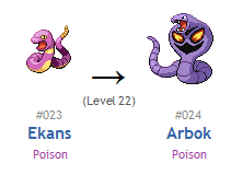Pokemon Bell... What Level Does Ekans Evolve In Silver